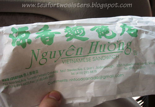 Banh mi wrapper and address