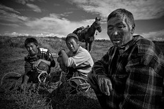 Shepherds in Tuva (Mieszko Stanislawski) Tags: life boy portrait bw horse mountain man male rural russia shepherd siberia sayan tuva indigenous babel syberia rosja sajan russianfederation pasterze tuwa mieszko stanislawski otherrussia czaban boratajga lopczik suthol