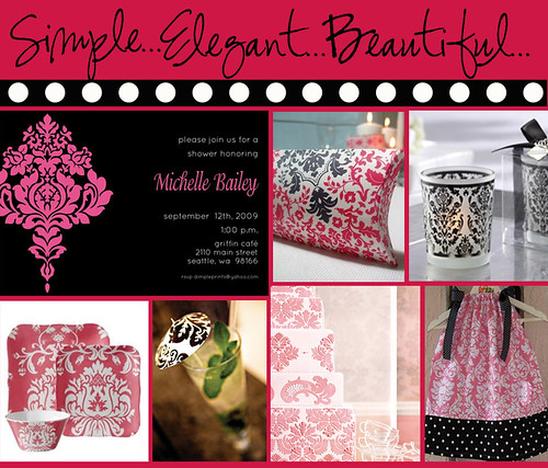 Pink BW inspiration board