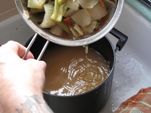 Making Homemade Veg Stock