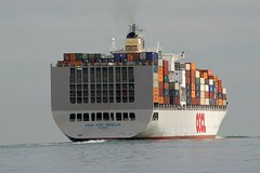 OOCL LOS ANGELES (John Ambler) Tags: water docks los ship angeles container solent southampton isle wight oocl