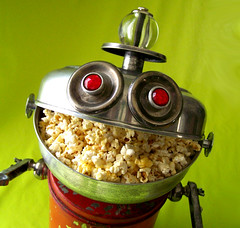 robot assemblage sculpture  * SNAX - A Snack Server Robot (Reclaim2Fame) Tags: red sculpture metal vintage tin robot assemblage mixedmedia characters etsy recycle foundobject tincan recycledmaterial servingbowl snackbowl vintageobjects snackserver robotcharacter willwagenaar williamwagenaar robotsculptur