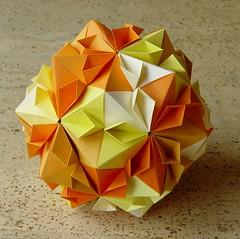 Cherry Blossom Ball von Tomoko Fuse (Tagfalter) Tags: origami modular kusudama tomokofuse