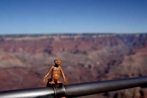 E.T. lands in the Grand Canyon