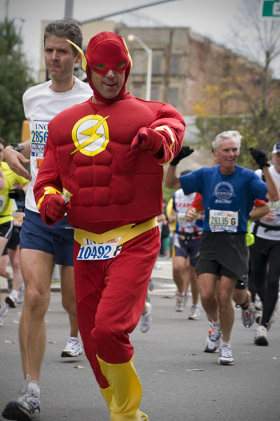 Flash Gordon out on the course.  Luckily my new D300 was able to capture him before he ran by.