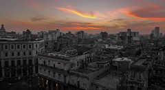 Havana Skyline at dusk (steverichard) Tags: travel sunset sky skyline photoshop island evening cityscape havana cuba centro vieja panasonic caribbean cuban kuba rooflines lahabana cubano steverichard nhparquehotel srichardimagescom cubaatnight sunsetsoverhavana
