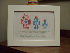 Custom Robot Family Sampler (The Bellwether) Tags: family baby shower robot sampler gift misofunky