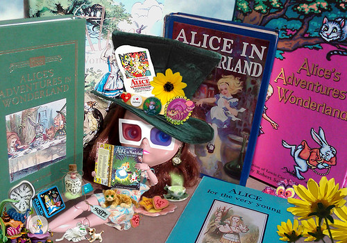 Riffy wants to read every book possible on Alice In Wonderland before she goes to see the new Disney movie next March