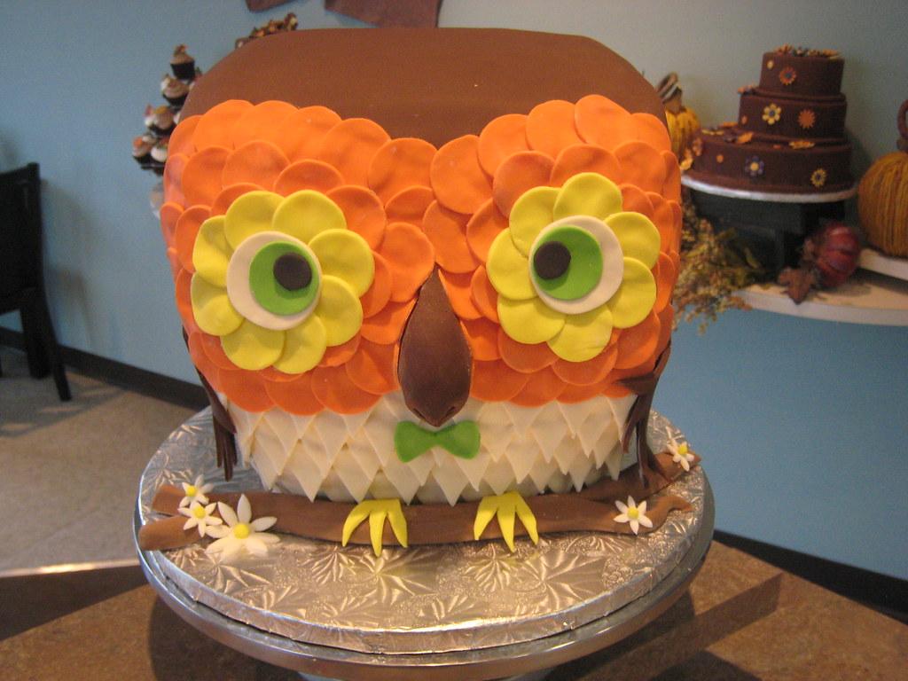 Whipt Cream Owl Special Event Cake