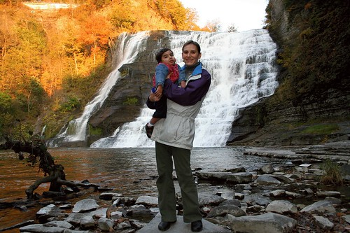 Ithaca falls with Meghan and Oliver
