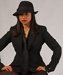 Anna Laura3 (SCSheola) Tags: portrait beauty hat fashion female studio model tie menswear pocketwizard dynalite offcameralighting njstrobistmeetup njstrobistsdec09 allphotoscopyrightedcbyscsheolapleasecontacttousewithpermission