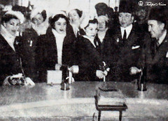 Princesses Fawzia & Faiza Visit Studio Misr - Cairo In 1946 (Tulipe Noire) Tags: africa studio official princess egypt middleeast visit cairo 1940s egyptian 1946 faiza misr fawzia