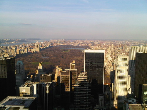 Top of the Rock, looking north toward Central Park
