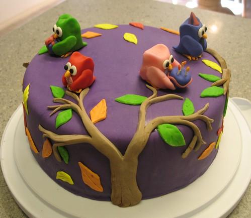 The SugarCoated Chronicle Owl Cake