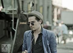 Coool (mkfoto) Tags: nyc man sunglasses soho hipster ups fedora iphone greentint