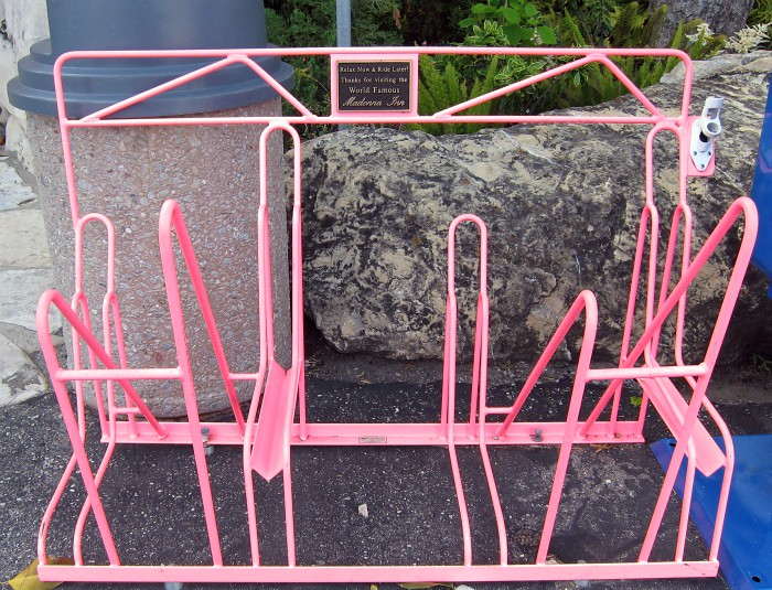 Pink Bicycle Rack @ The Madonna Innn
