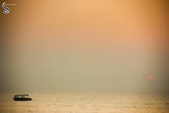 In the solitude of sunrise (Shikher Singh) Tags: sunrise sun horizon boat sail voyage sea ocean arabiansea indianocean diu nagao shikhersimagery