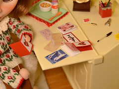 Happy Valentine's Day! (Moonrabbit_ly) Tags: valentine rement diorama miniature toy doll blythe dollhouse onesixth