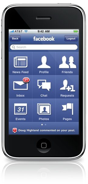 Facebook iPhone OS 3.0