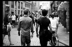 masculine (ladyinpink) Tags: street portrait people blackandwhite italy male men florence europe masculine strong