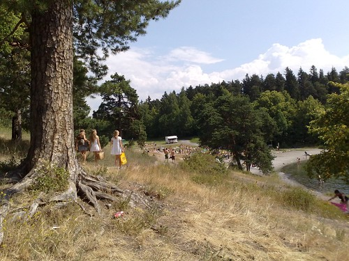 Hot summer at the beach in Oslo Norway #4