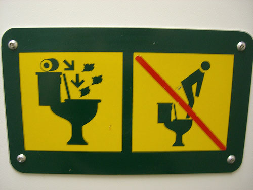 Ridiculous toilet sign