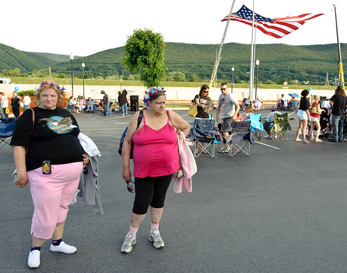 Celebrants at Williamsport's 4th of July party