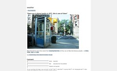 i am the weather » » there are 4 phone booths in NYC, this is one of them_1247224842179
