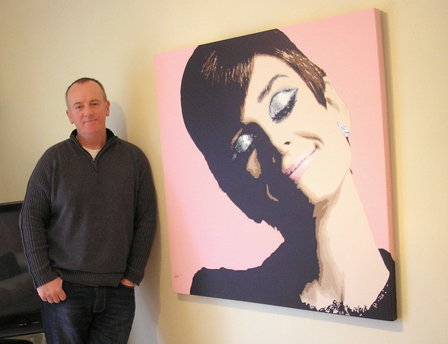 Pop Art Audrey Hepburn by Mike Pop Artist