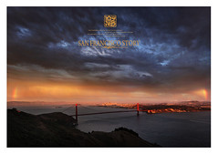 a dynamic city (louie imaging) Tags: ocean sf sanfrancisco ca city bridge light sunset summer sky sun storm color window colors rain fog modern clouds last canon landscape gold golden evening bay rainbow gate san francisco glow cityscape dynamic spectrum mark contemporary unique magic marin july double structure study ii area 5d serene fading rainbows hillside 1001nights narrow rare span jazzy headland slit colourartaward mkll