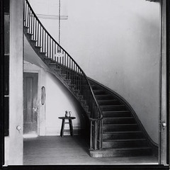 Ellerslie Plantation-Stairs---1926 (Michael.coach) Tags: house architecture stairs greek louisiana columns historic staircase plantation antebellum spiralstairs greekrevival ellerslieplantation