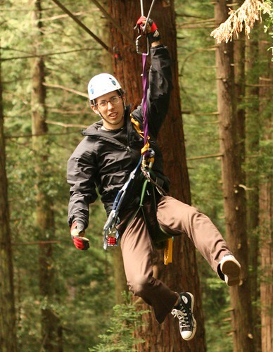 A dude on a canopy tour.  This could be you!