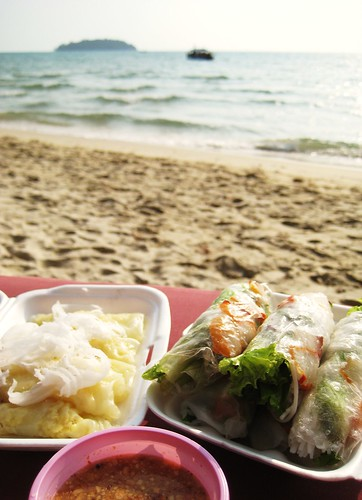 Lunch from a tout - Otres Beach, Cambodia