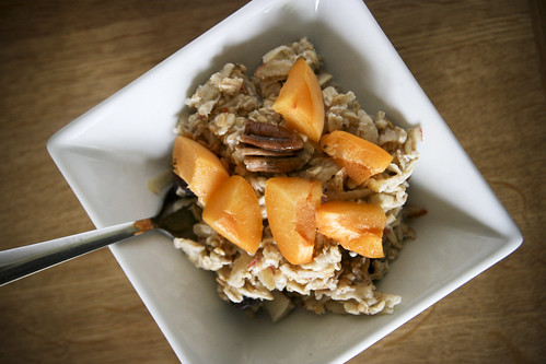 Breakfast: Bircher Muesli with Apricots and Pecans