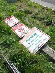 Fallen (Lorianne DiSabato) Tags: sign boston ma massachusetts eastboston