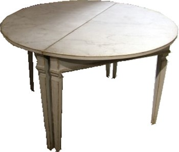 Gustavian Style Demilune Tables - Sweden, 1820-50