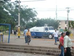 represión en la UNAH 5 de Agosto 10 por Protesta