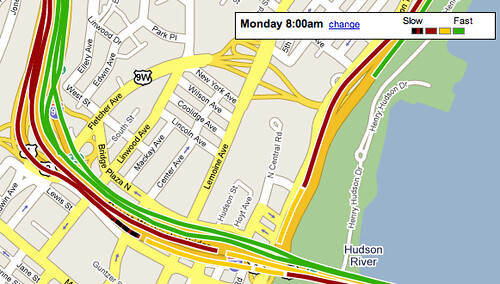 Google Maps Darkens Red Traffic Color