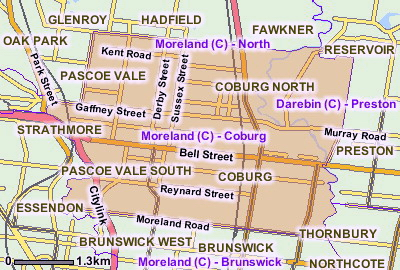 Coburg Statisical Local Area