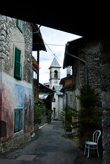 Il Belpaese (scarpace87) Tags: italy tower alley italia torre belltower steeple campanile lane foreshortening vicolo belluno scorcio viottolo paese valledicadore belpaese cibianadicadore theunforgettablepictures cibiana masari
