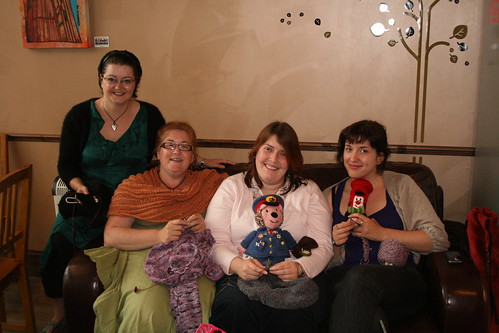 With my knitting group!
