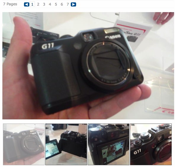 Canon Powershot G11 hands-on photos at Electricpig