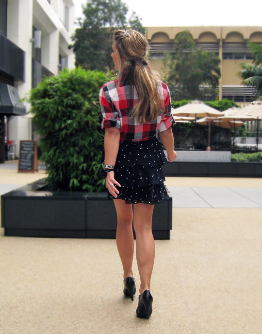 plaid-polka-dots-ruffle-skirt-2