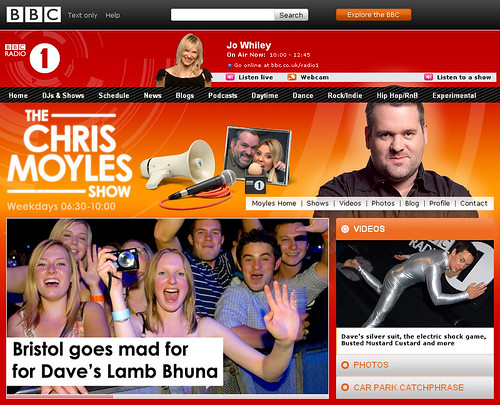 Chris Moyles Screen shot