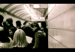 Inside London (Manlio Castagna) Tags: uk people bw london film 35mm underground blackwhite metro tube londra bianconero biancoenero manlio manliocastagna manliok