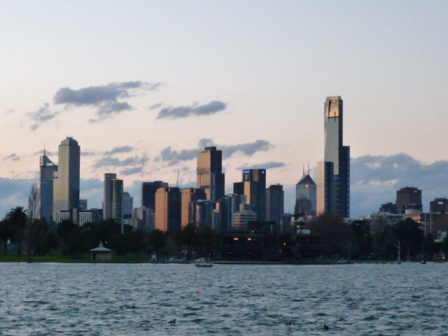 Melbourne from Albert Park Lake