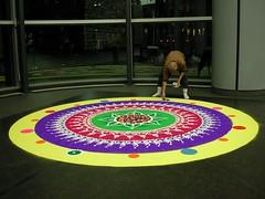 Rangoli at HSBC Global H.Q, Canary Wharf, London (janakchauhan) Tags: