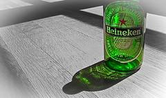 Brewed in Holland (Anthony Quinn(603)) Tags: beer glass heineken bottles label glassbottles redstar brewedinholland greenglassbottles hopsandbarley