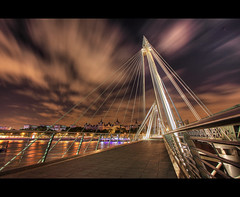 Golden Jubilee Bridge (Wilfried.B) Tags: uk bridge england london night canon golden long exposure raw shot angle jubilee wide explore 1022mm hdr goldenjubileebridge oy photomatix 40d wilfriedb