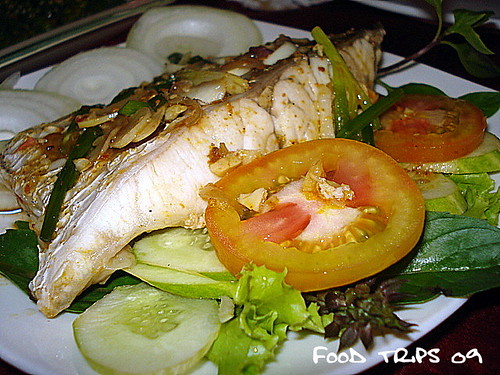 close up of steamed fish-1